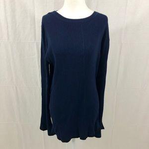 NWT Banana Republic Ribbed Sweater, XL, Navy Blue